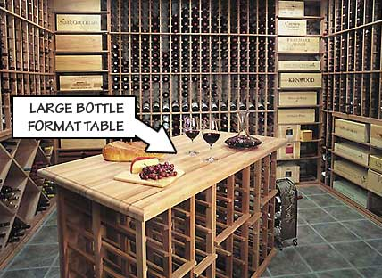 Large Bottle Format Table