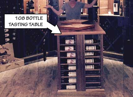 108 Bottle Tasting Table