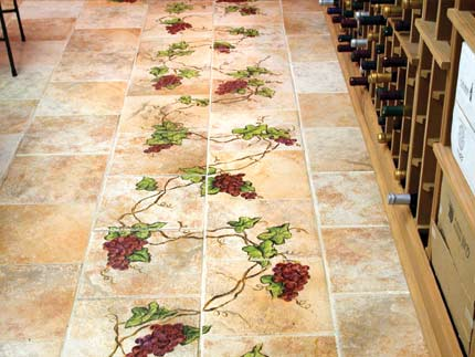 Hand Painted Tile Flooring