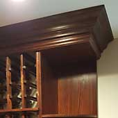 Winemaker Base and Built-Up Crown Molding Packages with Base Platform