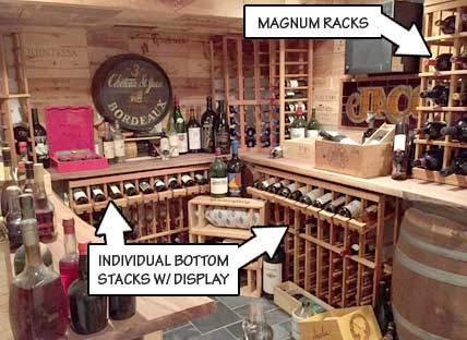 Racking Styles - half height -Individual Bottle Storage