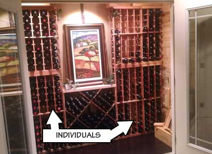Racking Styles -  Individual Bottle Storage