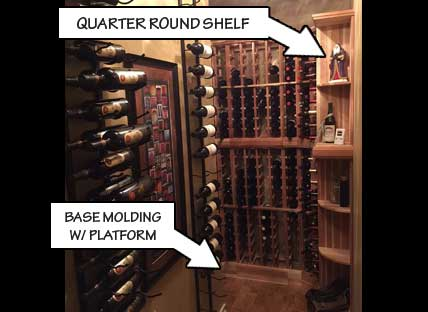 Quarter Round Wine Display