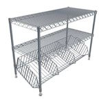 Commercial Wine Racks | Metal Half Height Wine Basket Merchandiser