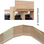 Curved Section of Vintner Series Molding - 5 1 4 in OG Base with 3 1 4 in OG Crown