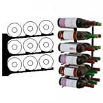 triple deep 2ft wall wine rack