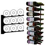 triple deep 3ft wall wine rack