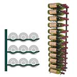 triple deep 4ft wall wine rack