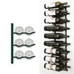 double deep magnum and champagne wall wine rack