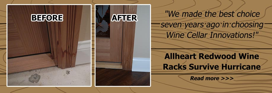 redwood wine racks survive hurricane