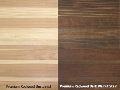 Premium Redwood Stain Quality - environmentally friendly, semi-transparent, waterborne finishes with additives to ensure a consistent color coverage