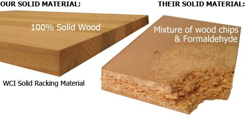 WCI solid Wood construction vs competition partical board construction