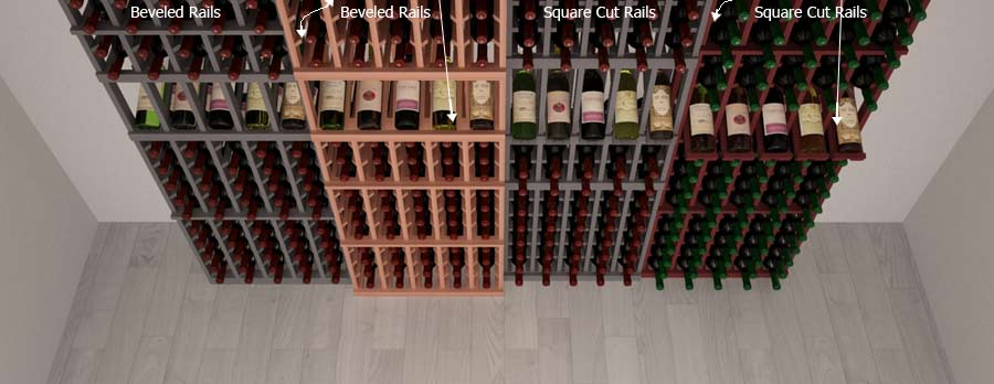 Wine Rack Depth Comparison between competition and WCI
