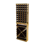 WineMaker 6Ft Individual Bottle Wine Rack with Solid Diamond Cube