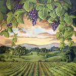 Hand Painted Murals for Vintner Archways